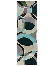 Surya Forum FM-7157 Dark Green 3' x 12' Runner Area Rug