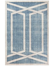 "Winston Directional Border 5817 Teal 7'7"" x 10'10"" Area Rug"