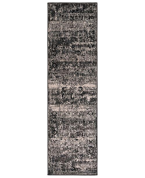 "Surya Paramount PAR-1060 Charcoal 2'2"" x 7'6"" Runner Area Rug"