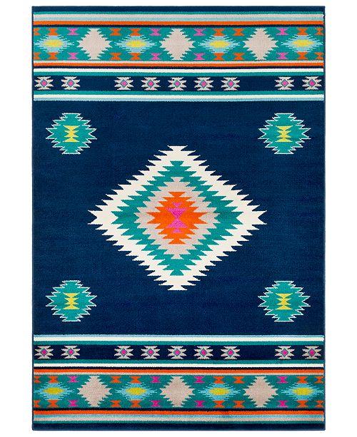 "Surya Paramount PAR-1116 Dark Blue 6'7"" x 9'6"" Area Rug"