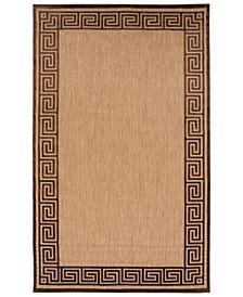 """CLOSEOUT! Portera PRT-1030 Dark Brown 4'7"""" x 6'7"""" Area Rug, Indoor/Outdoor"""