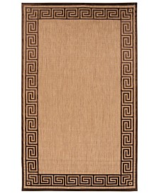 "Surya Portera PRT-1030 Dark Brown 5' x 7'6"" Area Rug, Indoor/Outdoor"