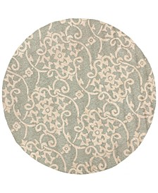 Rain RAI-1103 Sea Foam 8' Round Area Rug, Indoor/Outdoor