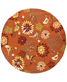 Surya Rain RAI-1104 Burnt Orange 8' Round Area Rug