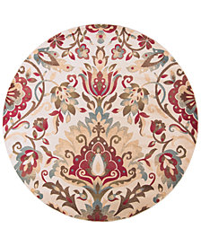 Surya Riley RLY-5017 Dark Red 8' Round Area Rug