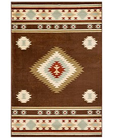 "Paramount PAR-1083 Dark Brown 8'10"" x 12'9"" Area Rug"