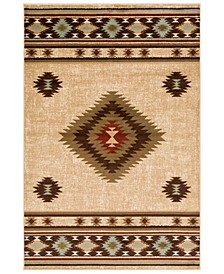 "Paramount PAR-1085 Dark Brown 8'10"" x 12'9"" Area Rug"