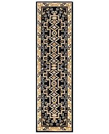 "Surya Paramount PAR-1088 Black 2'2"" x 7'6"" Runner Area Rug"