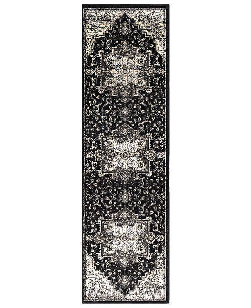"Surya Paramount PAR-1090 Black 2'2"" x 7'6"" Runner Area Rug"