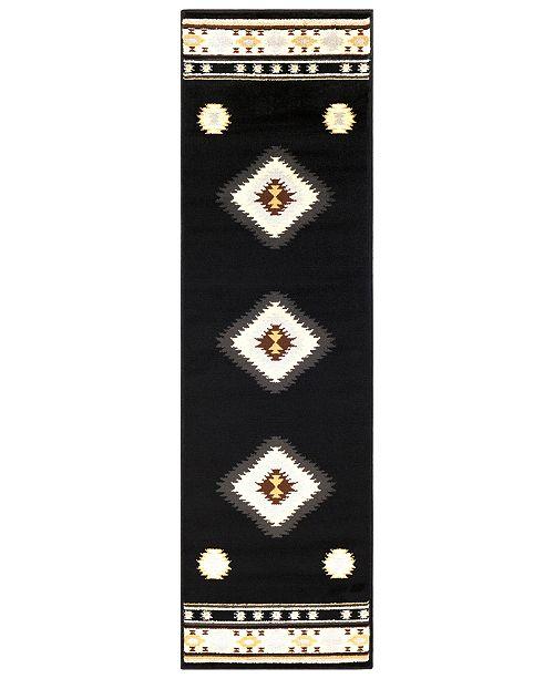 "Surya Paramount PAR-1095 Black 2'2"" x 7'6"" Runner Area Rug"