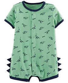 Carter's Baby Boys Dinosaur-Print Cotton Romper