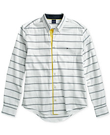Tommy Hilfiger Adaptive Men's Alvin Contrast Shirt with Magnetic Buttons