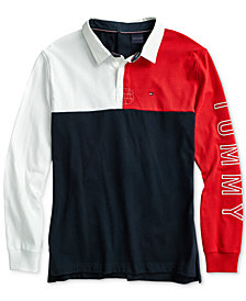 Tommy Hilfiger Adaptive Men's  Rugby Polo Shirt with Velcro® Closure at Back
