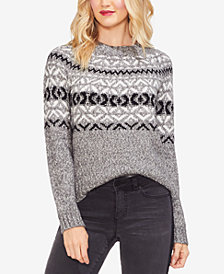 Vince Camuto Fairisle Crewneck Sweater