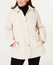 faf7ec9f911 Jones New York Plus Size Quilted Side-Strap Coat