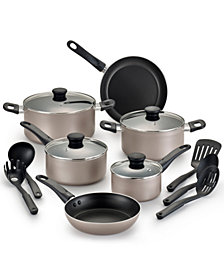 WearEver Complete Champagne Nonstick 15-pc. Cookware Set