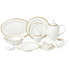 Lorren Home Trends Daisy 57-PC Dinnerware Set, Service for 8