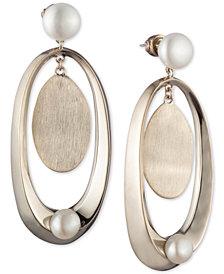 Carolee Gold-Tone & Freshwater Pearl (8-10mm) Sculptural Drop Earrings