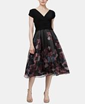 38672301c78b4 SL Fashions Floral Organza Ruched Dress