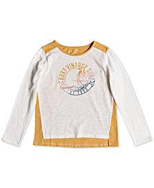 Roxy Big Girls Long-Sleeve Colorblocked T-Shirt