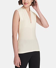 DKNY Sleeveless Deep V-Neck Top, Created for Macy's