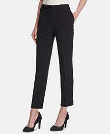 DKNY Fixed-Waist Skinny Ponte Pants, Created for Macy's