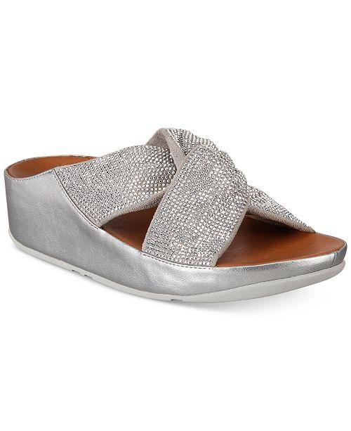 31f5127be FitFlop Twiss Crystal Slide Sandals   Reviews - Sandals   Flip Flops ...