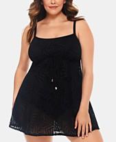 Swimdress Black Swimsuit: Shop Black Swimsuit - Macy's