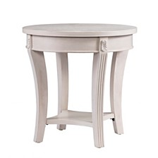 Faison Traditional Round End Table