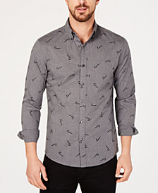 Michael Kors Men's Slim-Fit Script Logo-Print Shirt