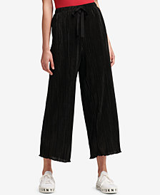 DKNY Pleated Pull-On Pants, Created for Macy's