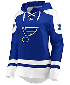 Majestic Women's St. Louis Blues Centre Lace up Crew Sweatshirt