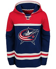 b6f97f56a2f Majestic Men s Columbus Blue Jackets Breakaway Lace Up Crew ...