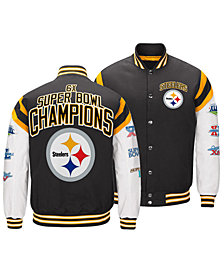 Authentic NFL Apparel Men's Pittsburgh Steelers Home Team Varsity Jacket