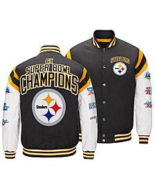 Authentic NFL Apparel Men's Pittsburgh Steelers Home Team Varsity Jacket