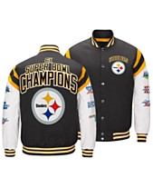 8ce109093 Authentic NFL Apparel Men s Pittsburgh Steelers Home Team Varsity Jacket