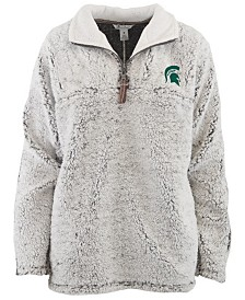 Pressbox Women's Michigan State Spartans Sherpa Quarter-Zip Pullover