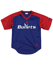 Mitchell & Ness Men's Washington Bullets Final Seconds Mesh V-Neck Jersey