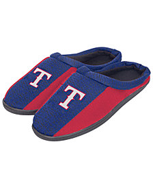 Forever Collectibles Texas Rangers Knit Cup Sole Slippers