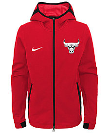 Nike Chicago Bulls Showtime Hooded Jacket, Big Boys (8-20)