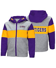 Colosseum LSU Tigers Colorblocked Full-Zip Sweatshirt, Toddler Boys (2T-4T)