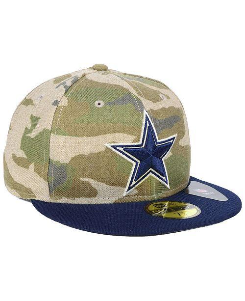 New Era Dallas Cowboys Vintage Camo 59FIFTY FITTED Cap - Sports Fan ... 629d282f6