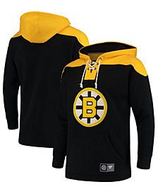 Majestic Men's Boston Bruins Breakaway Lace Up Hoodie