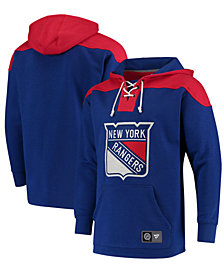 Majestic Men's New York Rangers Breakaway Lace Up Hoodie