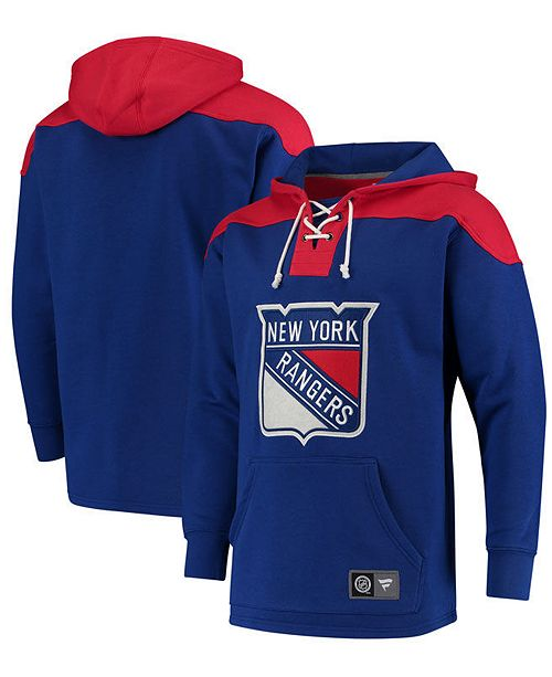 Majestic Men's New York Rangers Breakaway Lace Up Hoodie