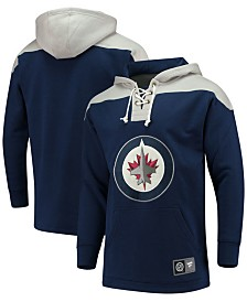 Majestic Men's Winnipeg Jets Breakaway Lace Up Hoodie