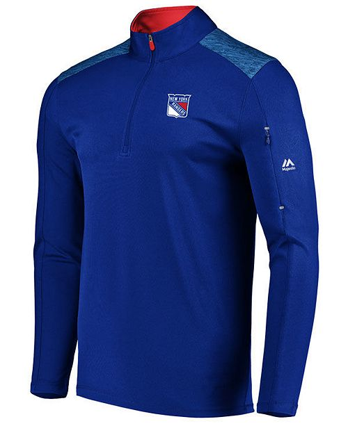 Majestic Men's New York Rangers Ultra Streak Half-Zip Pullover