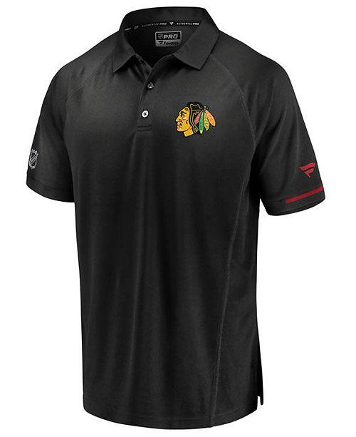 Majestic Men's Chicago Blackhawks Rinkside Pro Polo