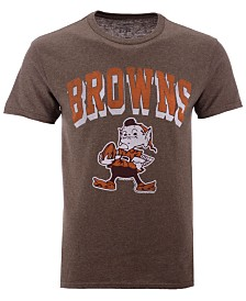 Authentic NFL Apparel Men's Cleveland Browns Shadow Arch Retro T-Shirt