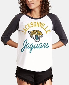 Authentic NFL Apparel Women's Jacksonville Jaguars Raglan T-Shirt